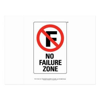 No FAILURE Zone - with Info Line.jpg Postcard