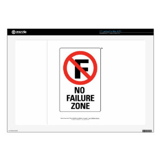 "No FAILURE Zone - with Info Line.jpg Decal For 17"" Laptop"