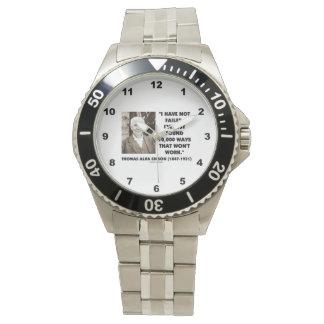 No fallado encontrado 10.000 maneras no trabajará relojes de pulsera