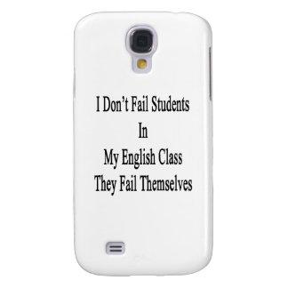No fallo a estudiantes en mi clase de inglés ellos