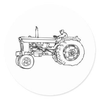 NO FARMS, NO FOOD! CLASSIC ROUND STICKER