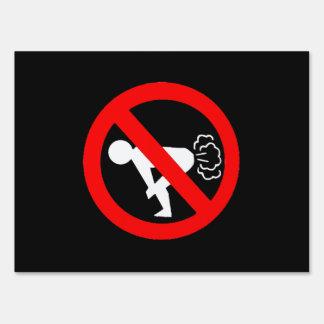 No Fart Lawn Signs