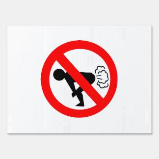 No Fart Signs