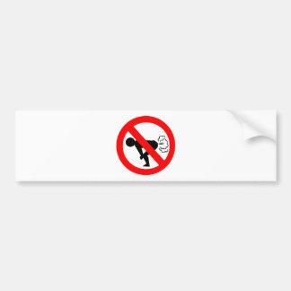 No Fart Zone Bumper Stickers