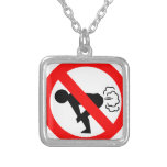 No Fart Zone Personalized Necklace