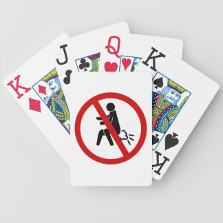 NO Farting ⚠ Funny Thai Toilet Sign ⚠ Bicycle Playing Cards