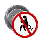 NO Farting ⚠ Funny Thai Toilet Sign ⚠ Button