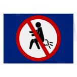 NO Farting ⚠ Funny Thai Toilet Sign ⚠ Card
