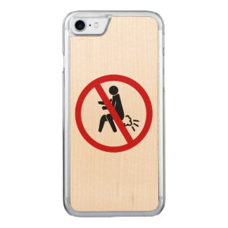 NO Farting ⚠ Funny Thai Toilet Sign ⚠ Carved iPhone 7 Case