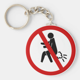 NO Farting ⚠ Funny Thai Toilet Sign ⚠ Keychain