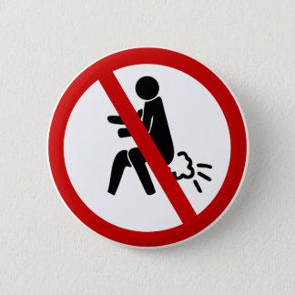 NO Farting ⚠ Funny Thai Toilet Sign ⚠ Pinback Button