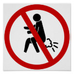 NO Farting ⚠ Funny Thai Toilet Sign ⚠ Print