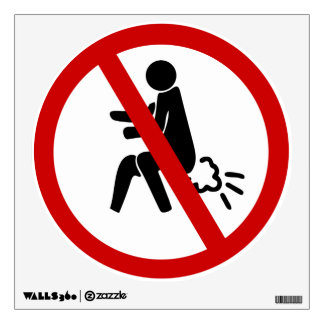 NO Farting ⚠ Funny Thai Toilet Sign ⚠ Wall Graphics