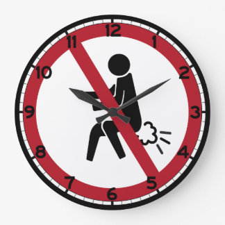 No Farting Sign, Thailand Large Clock