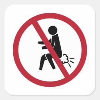 No Farting Sign, Thailand Square Sticker