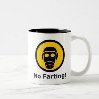 No-Farting Two-Tone Coffee Mug