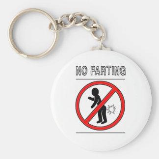 NO FARTING Warning Sign Basic Round Button Keychain