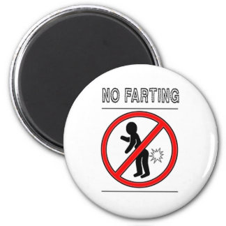 NO FARTING Warning Sign Magnet