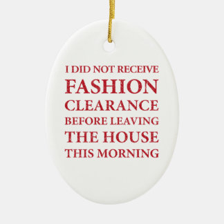 No Fashion Clearance red Ornament