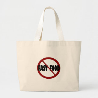 No Fast Food Tote Bags