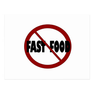 No Fast Food Postcard