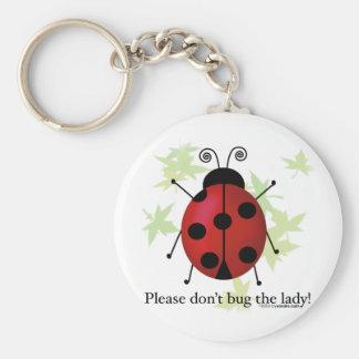 No fastidie a la señora llavero redondo tipo pin