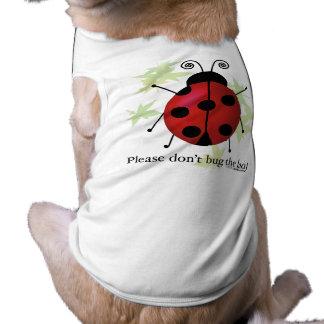No fastidie a la señora camiseta de mascota