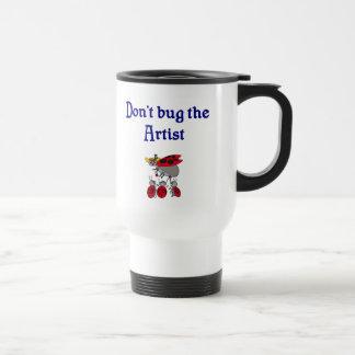 No fastidie la taza del artista