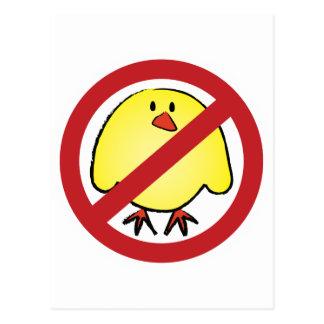 No Fat Chicks! Postcard