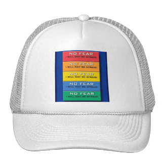 No Fear Alert Level Mesh Hats