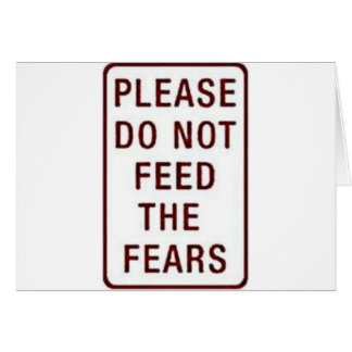 NO FEAR!! GREETING CARD