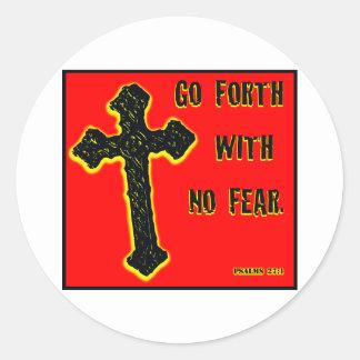 No Fear Classic Round Sticker