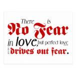 No Fear in Love Postcard