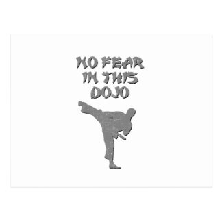 No fear in this dojo postcard