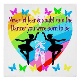 NO FEAR JUST FAITH DANCER DREAMS POSTER