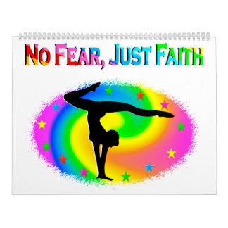 NO FEAR JUST FAITH INSPIRATING GYMNASTICS CALENDAR