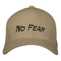No Fear Logo Tan Baseball Cap