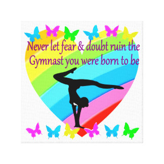 NO FEAR OR DOUBT IN BEING A GREAT GYMNAST CANVAS PRINT