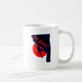 no fear rock climbing coffee mug