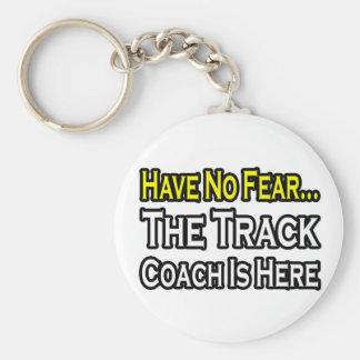 No Fear...Track Coach Keychain