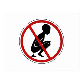 No Fecal Matter Sign, Benin Postcard
