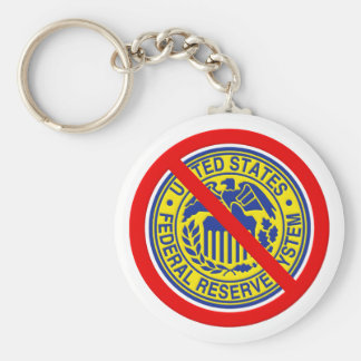No Federal Reserve End The Fed Basic Round Button Keychain