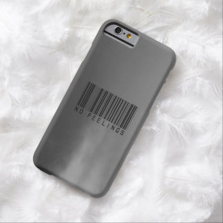 No Feelings // Barcode Barely There iPhone 6 Case