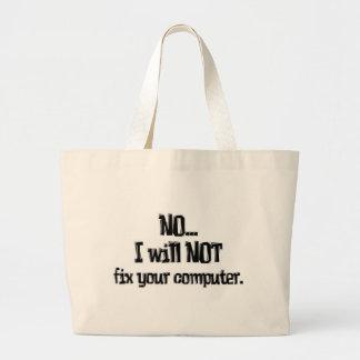 No fijará su ordenador bolsa tela grande