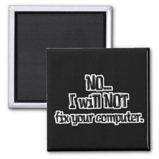 No fijará su ordenador iman