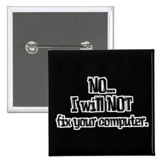 No fijará su ordenador pin cuadrado