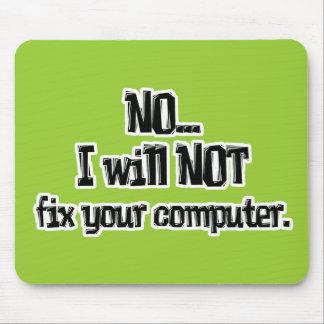 No fijará su ordenador alfombrilla de raton