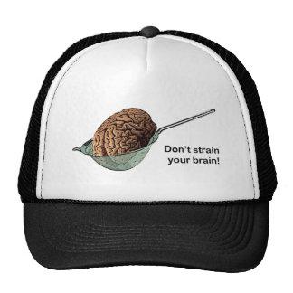 ¡No filtre su cerebro! Gorros Bordados
