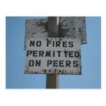 No Fires Postcard
