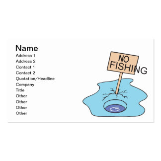 No Fishing Business Card Template